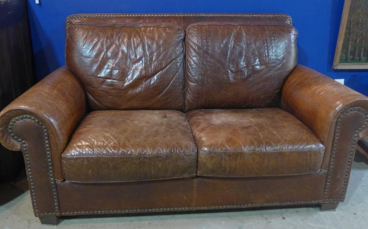 Leather Club Sofa Couch