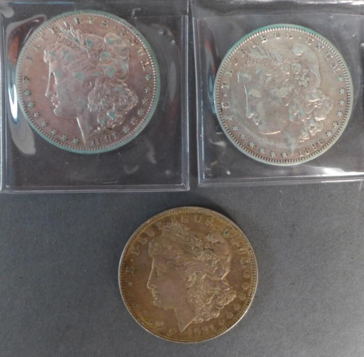 Selection of Three Morgan Silver Dollars