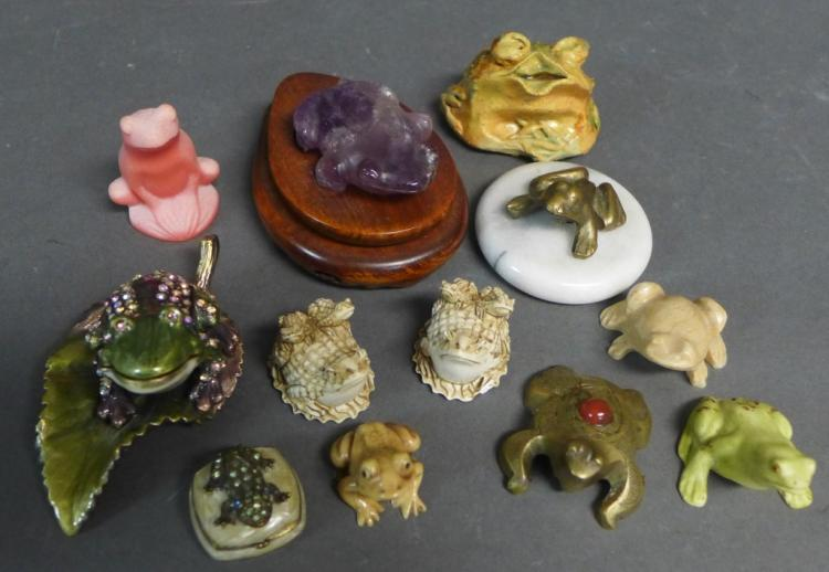 Large Assortment of Frog Figurines
