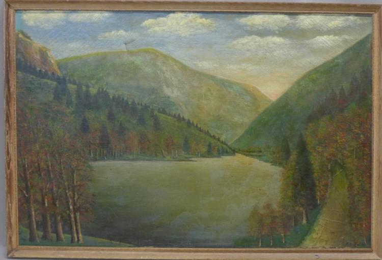 Large Signed Landscape Painting
