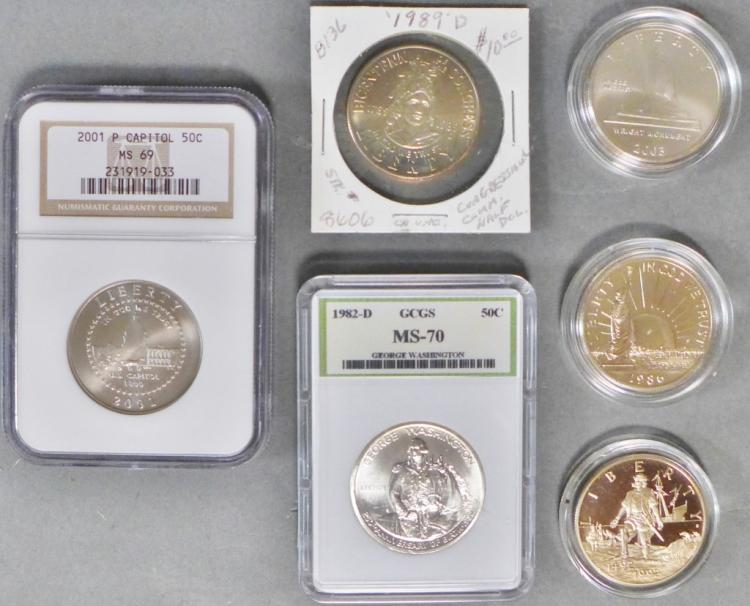 Modern Commemorative Half Dollar Coins