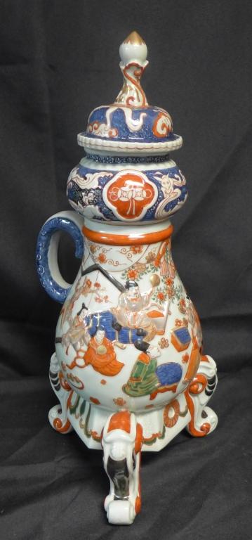 Imari Porcelain Ewer/ Samovar