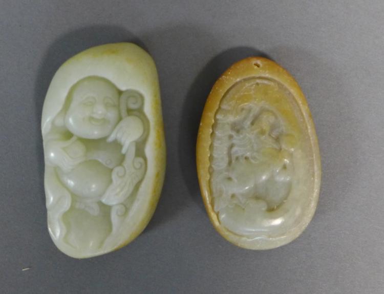 Pair of Nephrite Jade Amulets