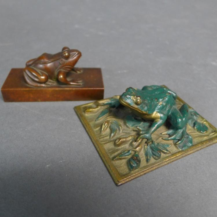 Antique Bronze Paperweights