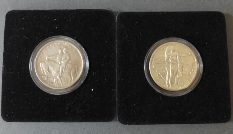 Two Commemorative Half Dollar Silver Coins