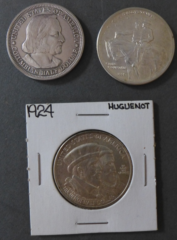 Three Commemorative Half Dollar Coins