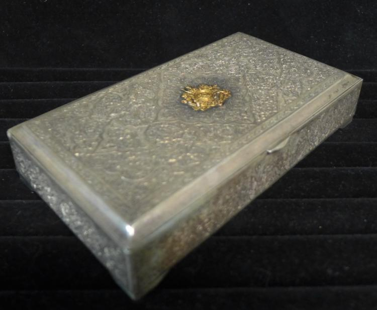 Antique Sterling Silver Cigar Humidor