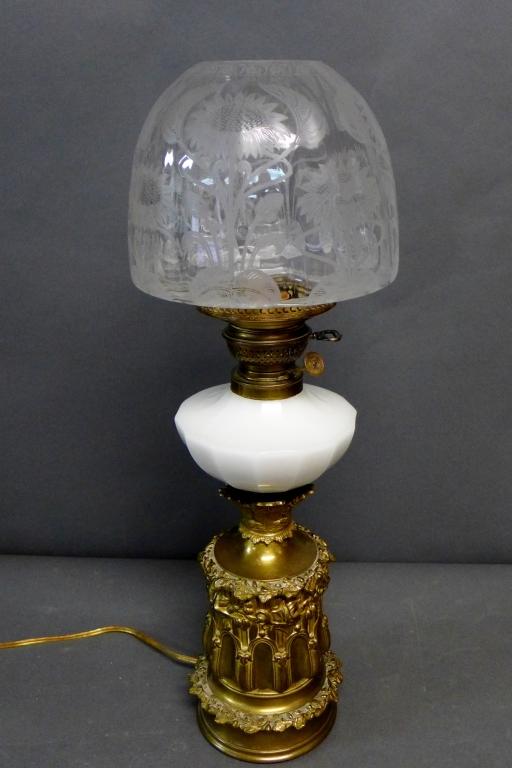 Gebruder Brunner Wien Austria Oil Lamp