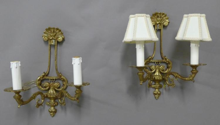Pair Sconces Bronze Sconces