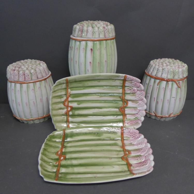 Italian Ceramic Asparagus Dishware
