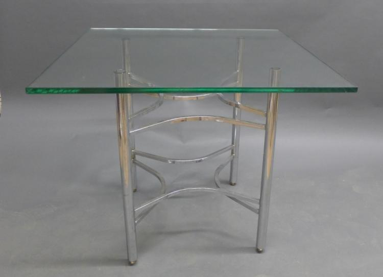 Modern Glass and Chrome Table