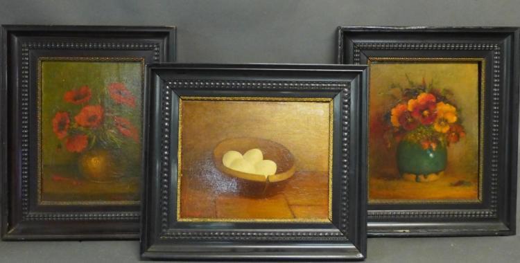 Three Still Life Paintings by W. Van Beek