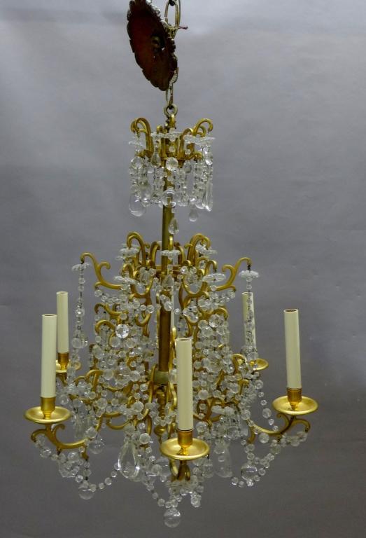 Versailles Style Gilt Bronze & Crystal Chandelier