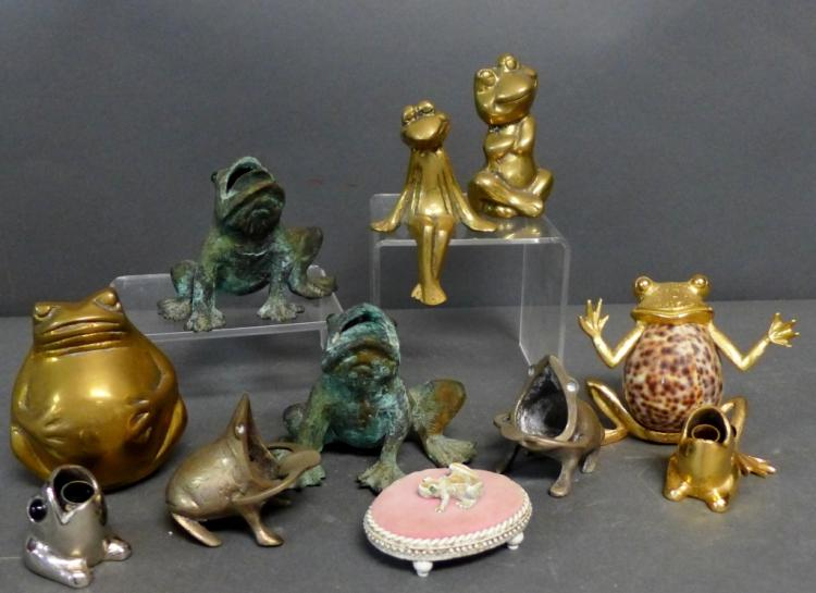 Grouping of Frog Figurines