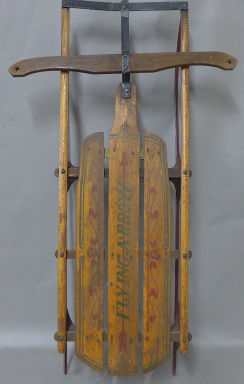 Flying Arrow Vintage Wood Sled