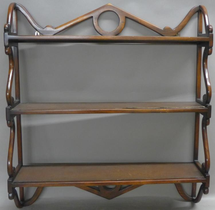 Wood Curio Shelf Unit