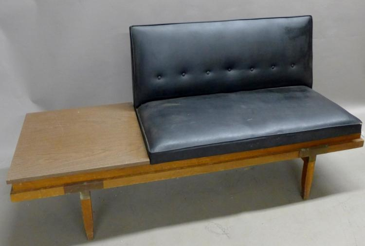 Mid-Century Modern Sofa with Attached End Table