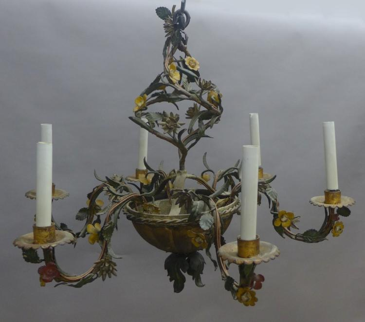 Antique Floral Chandelier