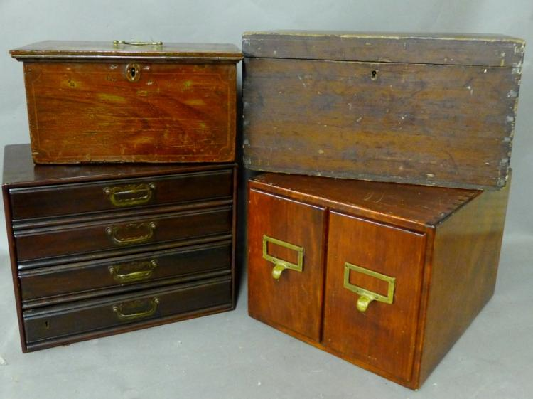 Grouping of Vintage Wood Boxes and Chests