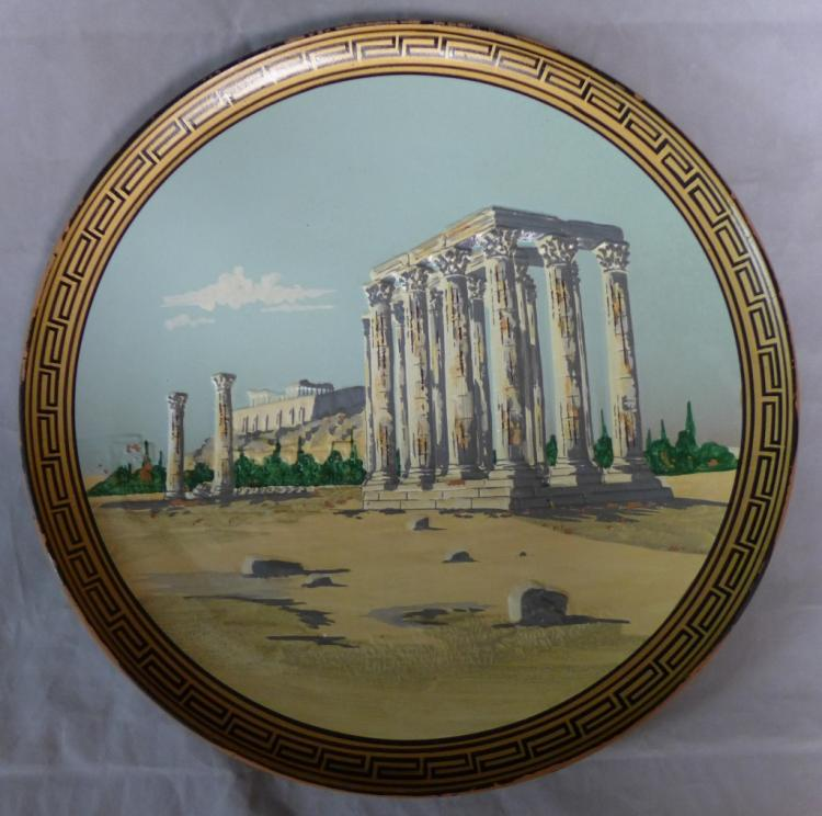 Temple of Olympian Zeus Athens Pottery Charger