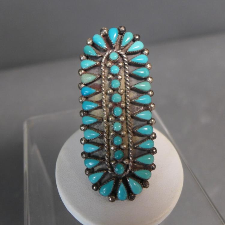 Vintage Turquoise Petit Point Ring