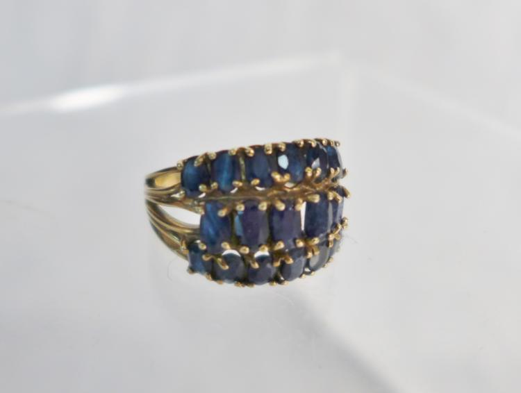 Gold & Sapphire Cocktail Ring
