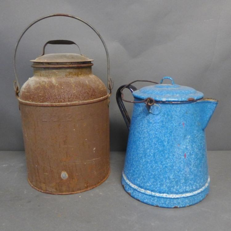 Two Vintage Lidded Vessels