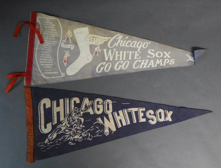 Vintage Chicago White Sox Pennant Flags