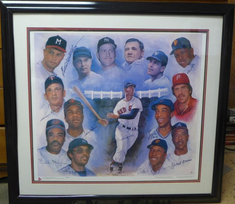 Autographed Litho: 500 Home Run Club