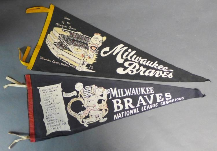Milwaukee Braves Pennant Flags