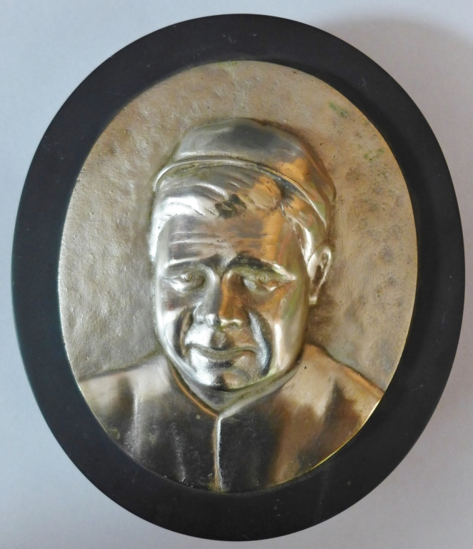 Silver over Bronze Babe Ruth Plaque