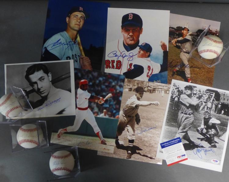 Boston Red Sox Signed Photos & Baseballs