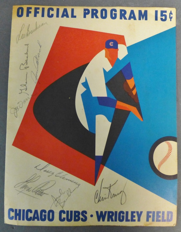 Autographed Official Program for Chicago Cubs 1965