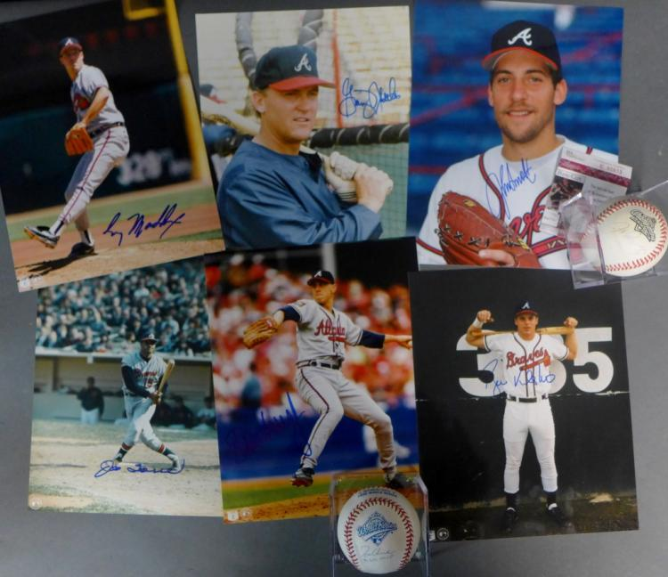 Atlanta Braves Autographed Photos & Baseballs