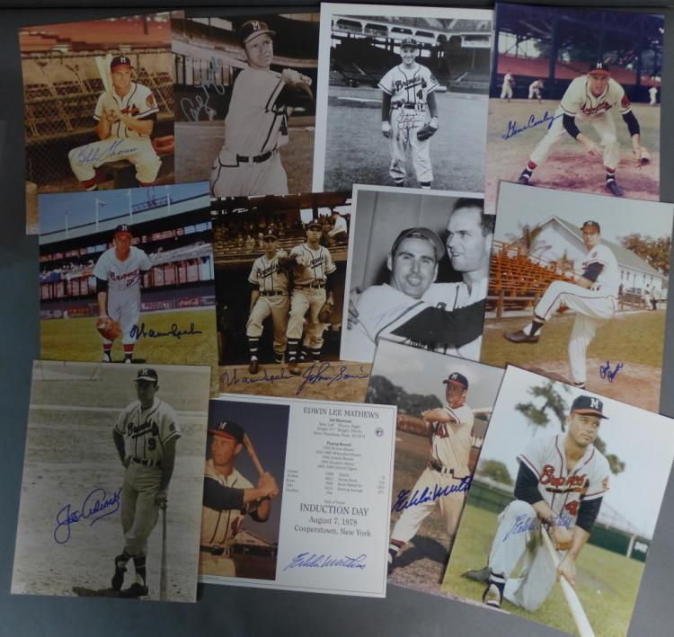 Milwaukee Braves Autographed 8 x 10 Photos