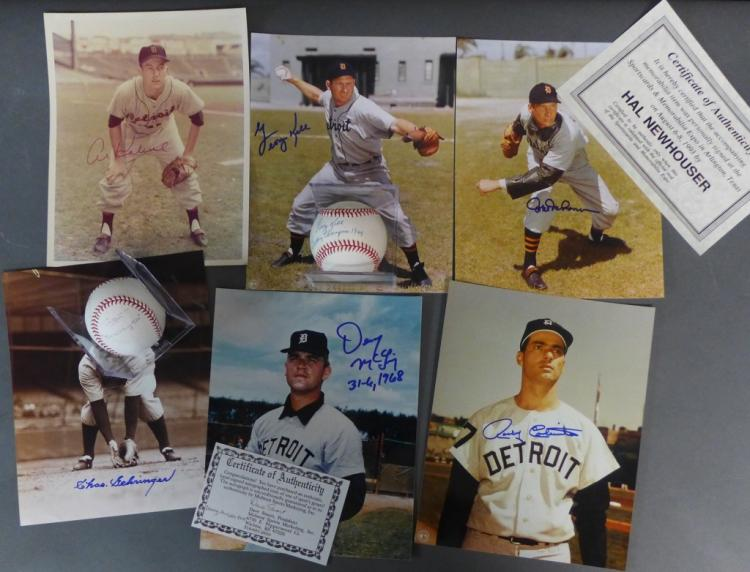 Detroit Tigers Autographed Photos and Baseballs