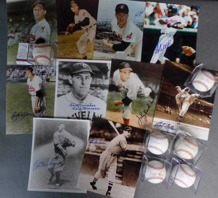 Cleveland Indians Signed Photos & Balls