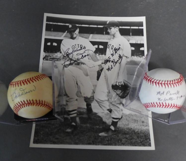 Boston Red Sox Mel Parnell and Bobby Doerr