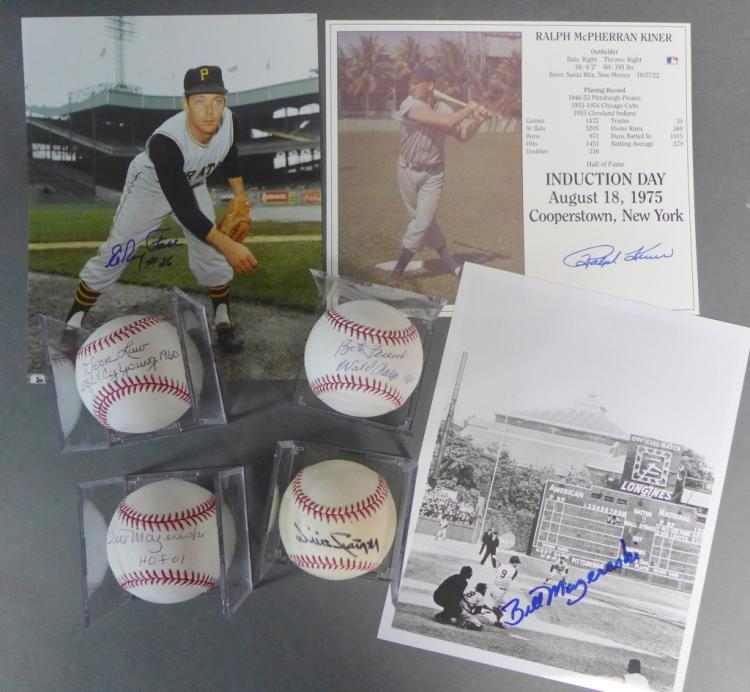 Pittsburgh Pirates Autographed Photos & Baseballs