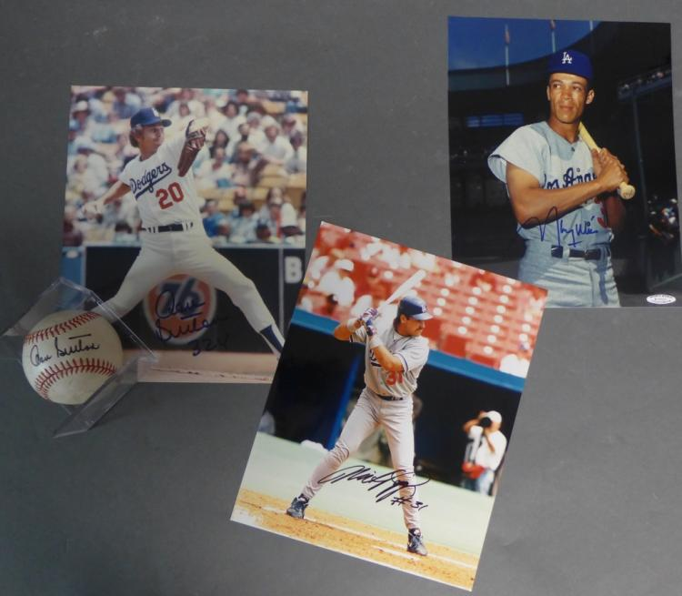 Los Angeles Dodgers Signed Photos and Baseball