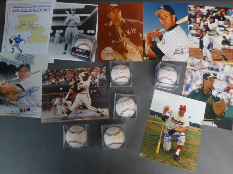 Major League Autographed Photos and Baseballs