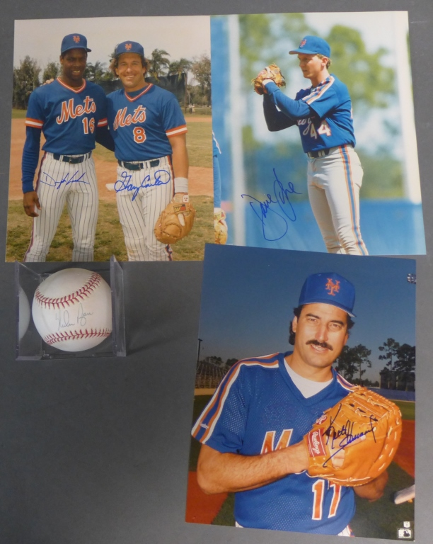 New York Mets Autographed Photos and Baseball
