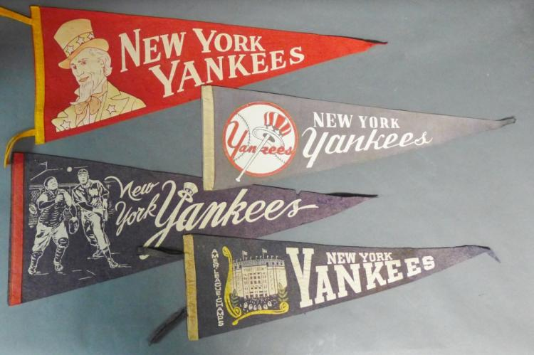 Vintage New York Yankees Pennant Flags