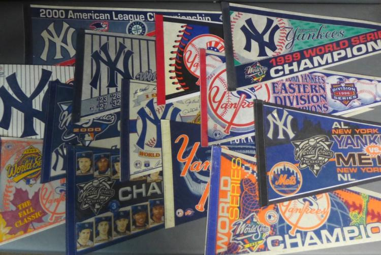 Large Grouping of New York Yankees Pennants