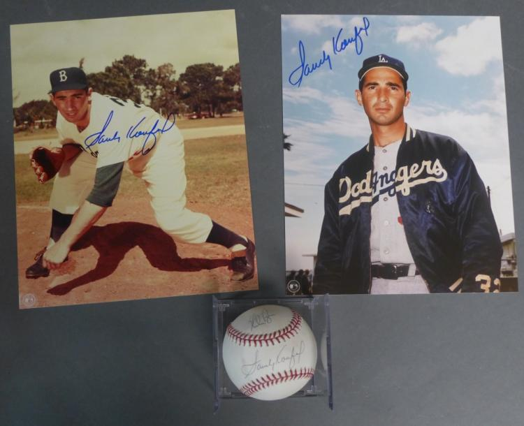 Sandy Koufax Autograph Photos & Baseball