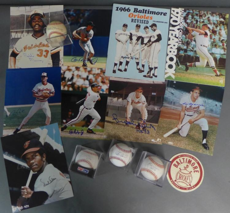 Baltimore Orioles Autographs and Memorabilia