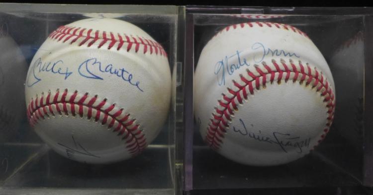 Two Multi-Signature NL Autographed Baseballs