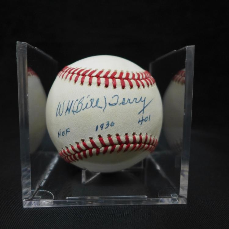 Bill Terry Autographed National League Baseball