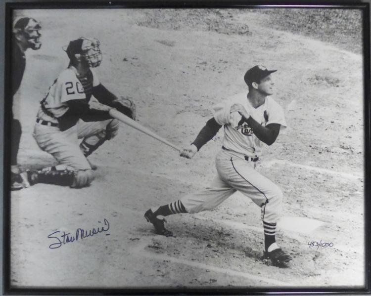 Stan Musial Autograph Photo w/ COA