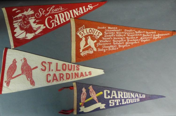 St. Louis Cardinals Vintage Pennant Flags